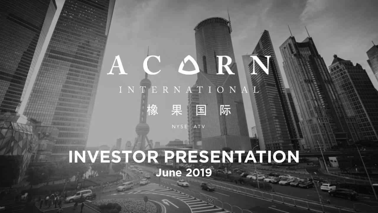 Acorn International (ATV) Presents At LD Micro Invitational Confeence - Slideshow
