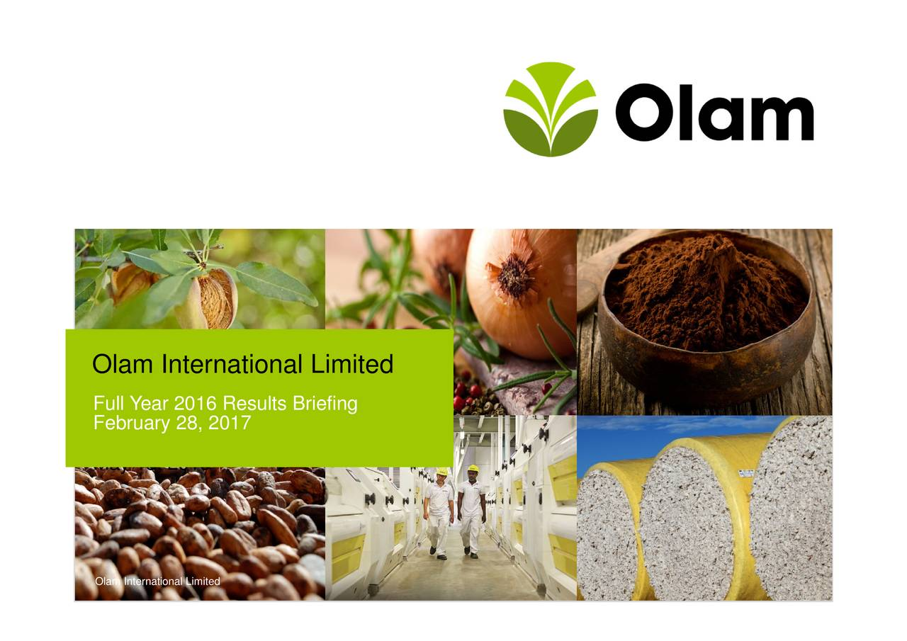 Olam International Limited Olam International LimitedBsreifing
