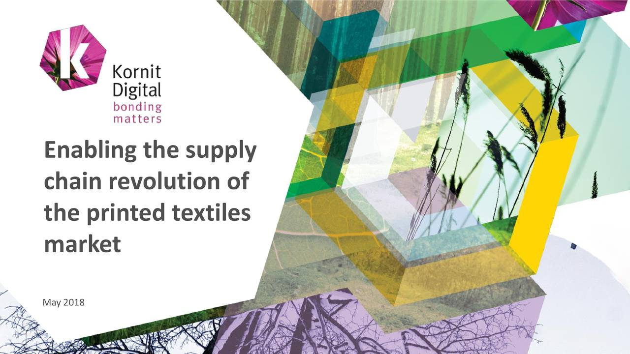 chain revolution of the printed textiles market May 2018