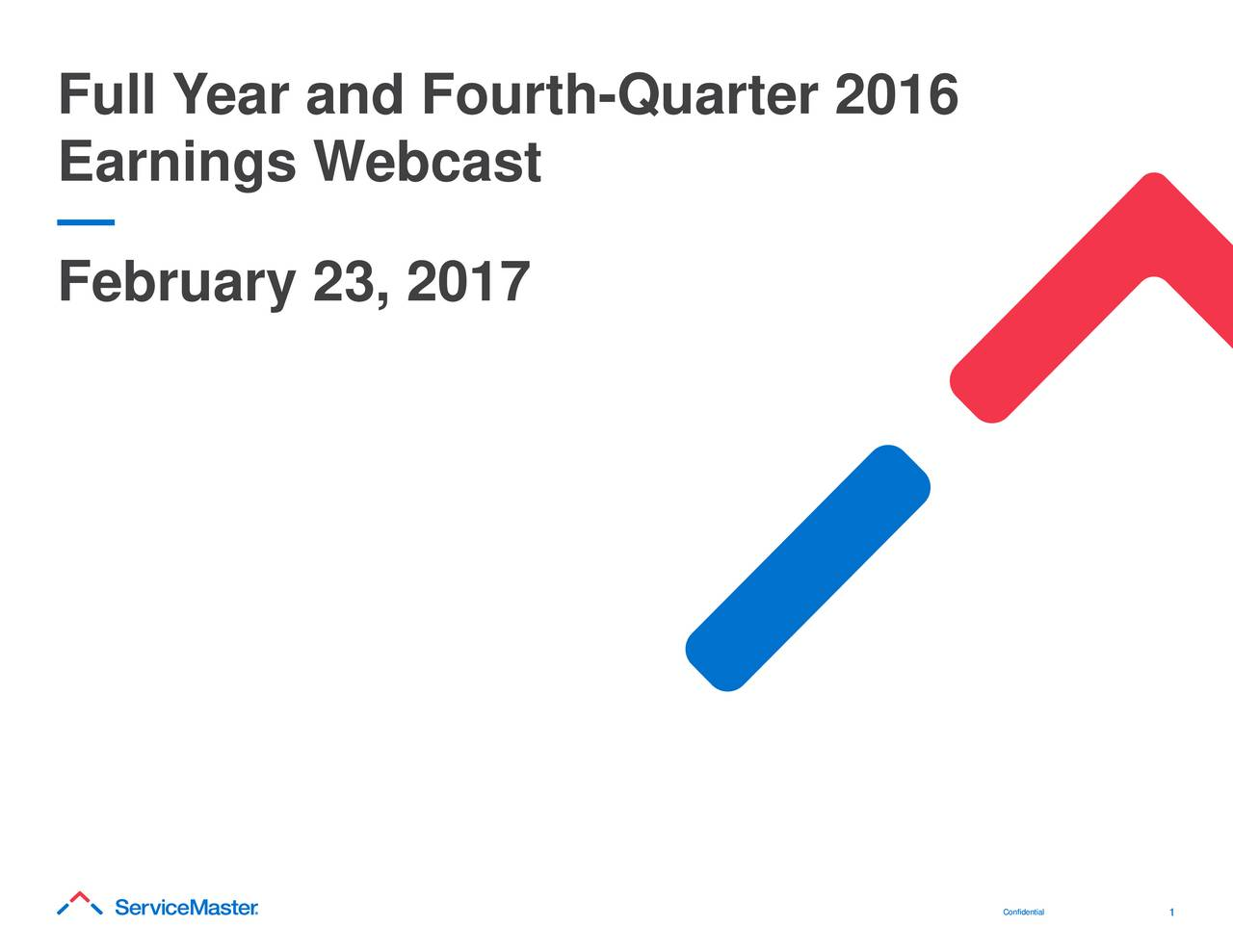 Earnings Webcast February 23, 2017 Coonnff1iddeennttiiaall