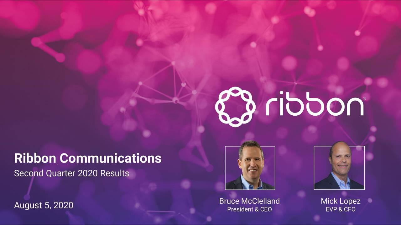 Ribbon Communications Inc. 2020 Q2 - Results - Earnings Call Presentation (NASDAQ:RBBN)