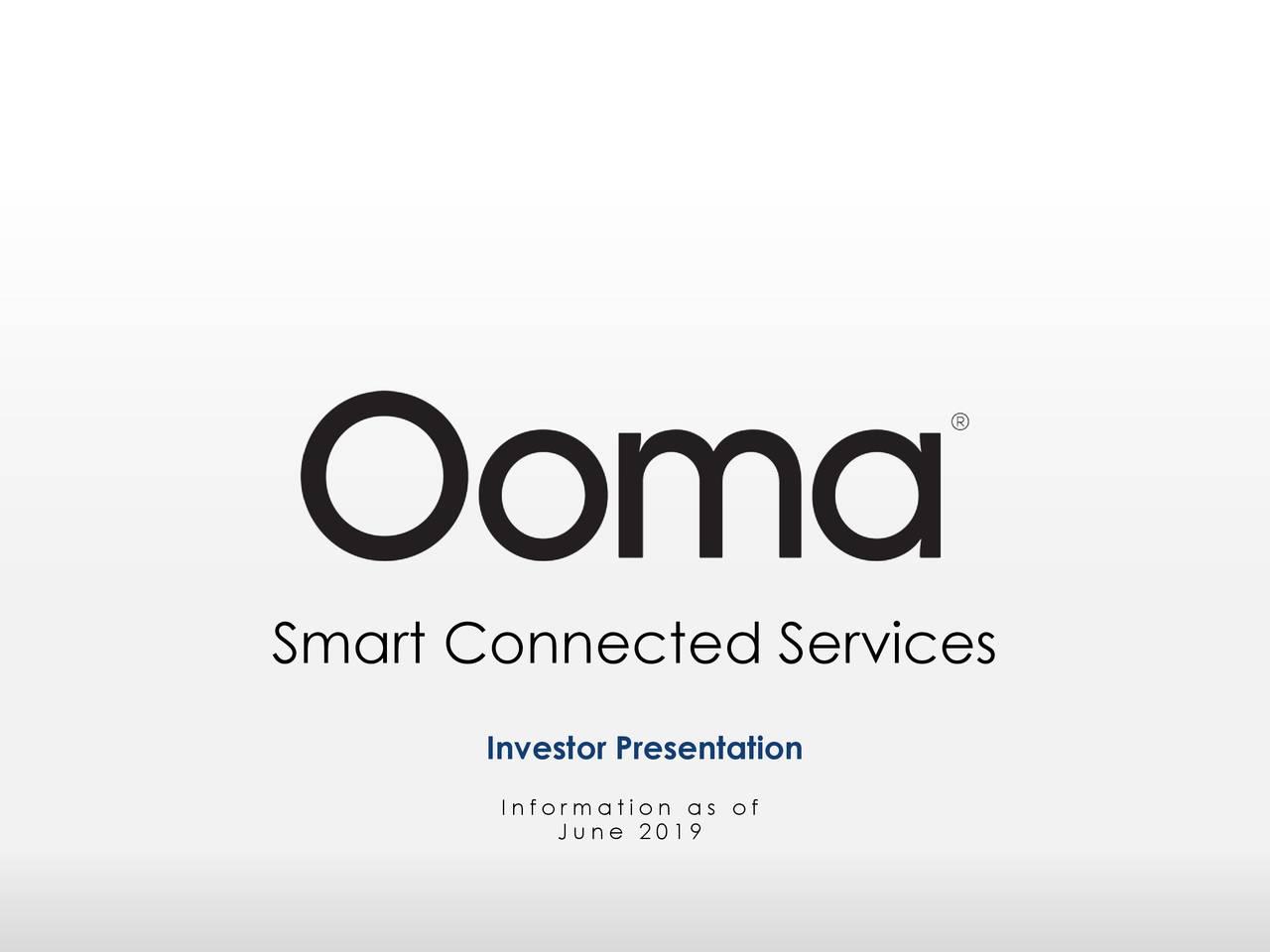Ooma (OOMA) Investor Presentation - Slideshow