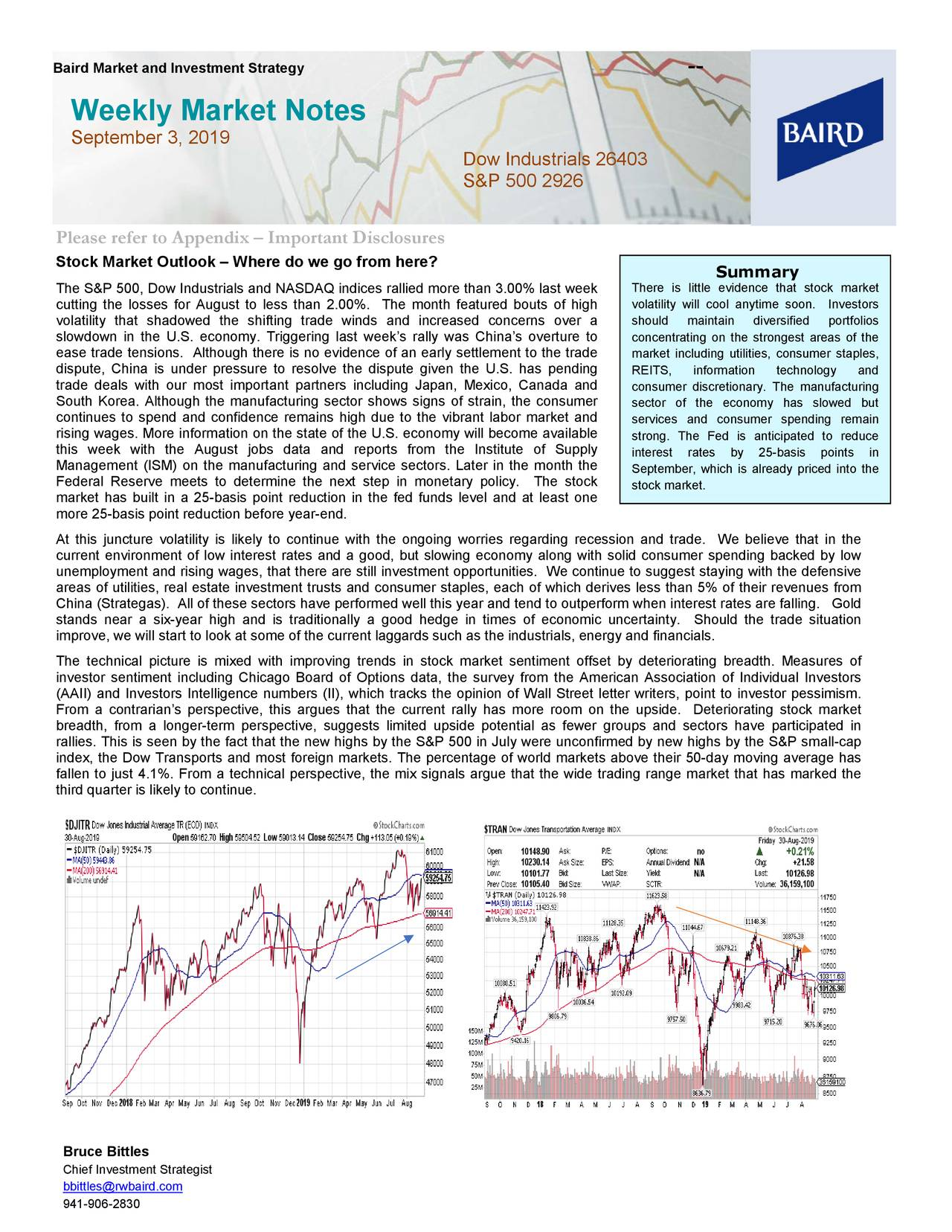 Baird Market and Investment Strategy                                                                 --