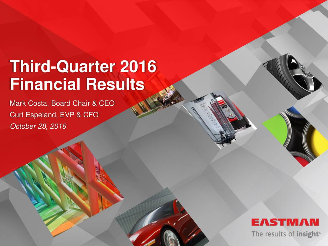 Eastman Chemical Co  2016 Q3 - Results - Earnings Call Slides