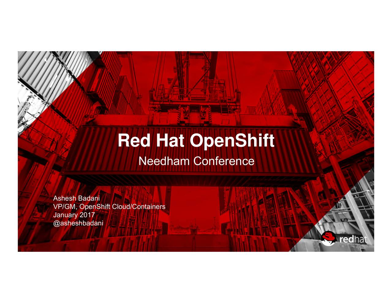 Red Hat OpenShift AsVP/aBuaspinShitCnlioud/Containers