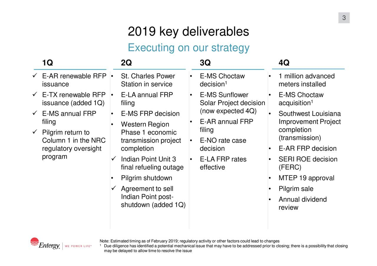 Entergy Corporation 2019 Q1 - Results - Earnings Call Slides