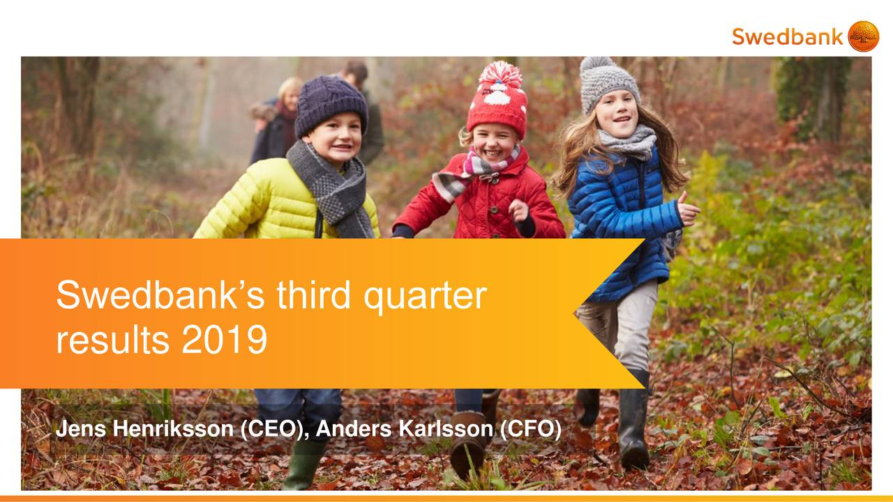 Swedbank AB (publ) 2019 Q3 - Results - Earnings Call Presentation