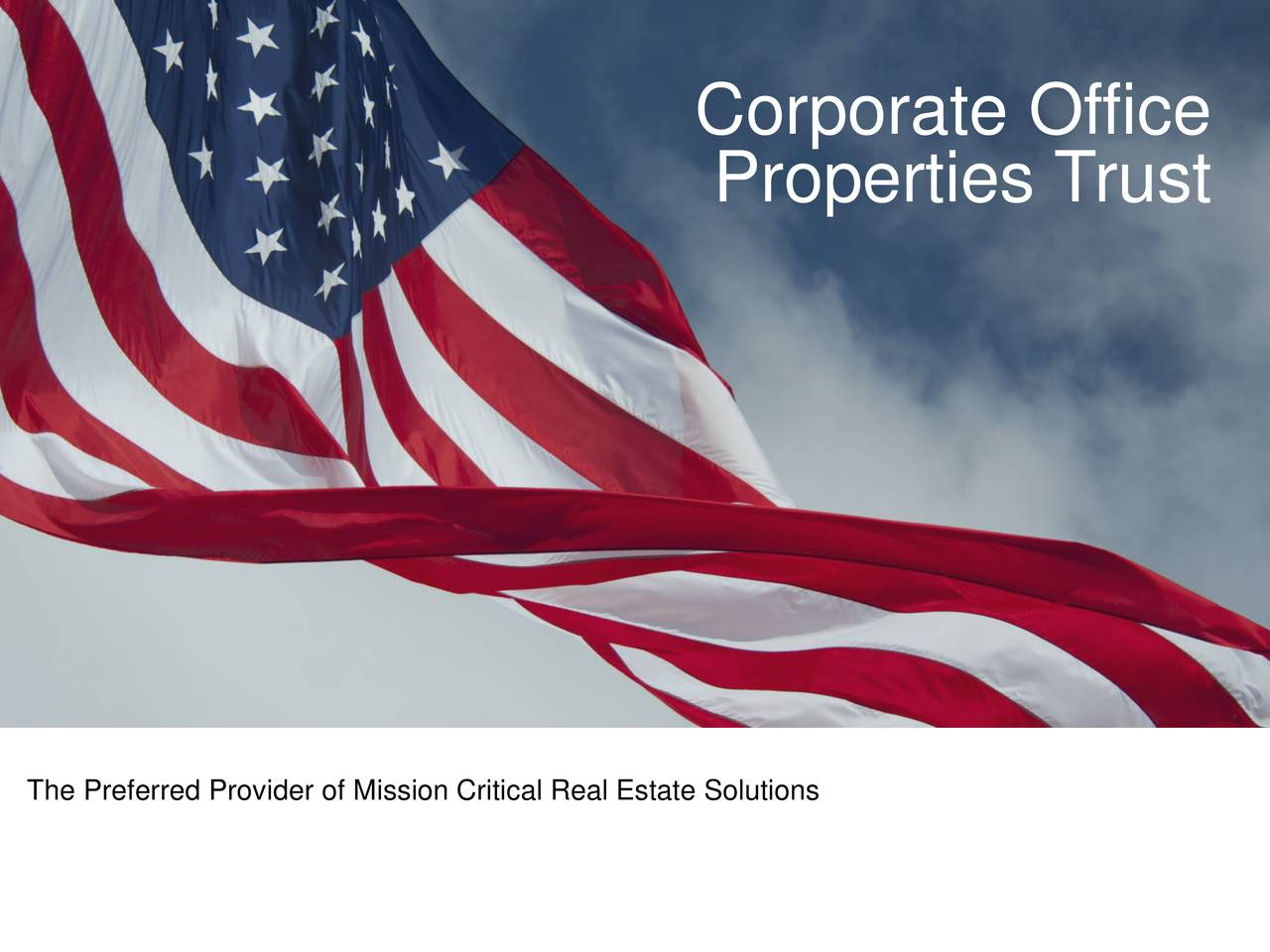 Corporate Office Properties Trust 2017 Q4 - Results ...