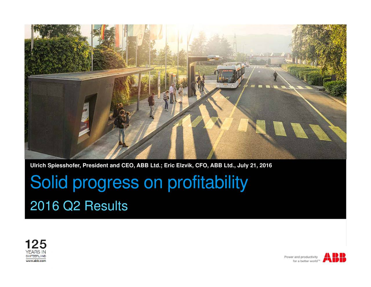 Slide 1 UlriSolid progress  ABBofitability