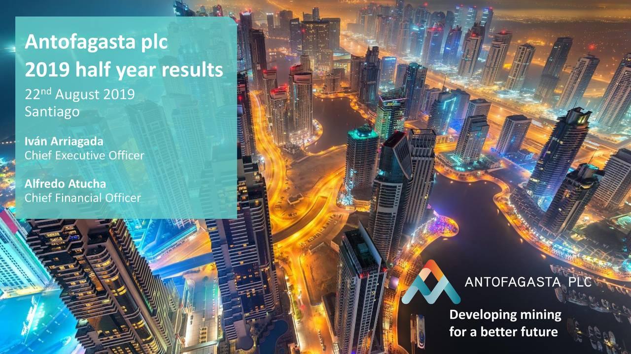 Antofagasta plc 2019 Q2 - Results - Earnings Call Slides