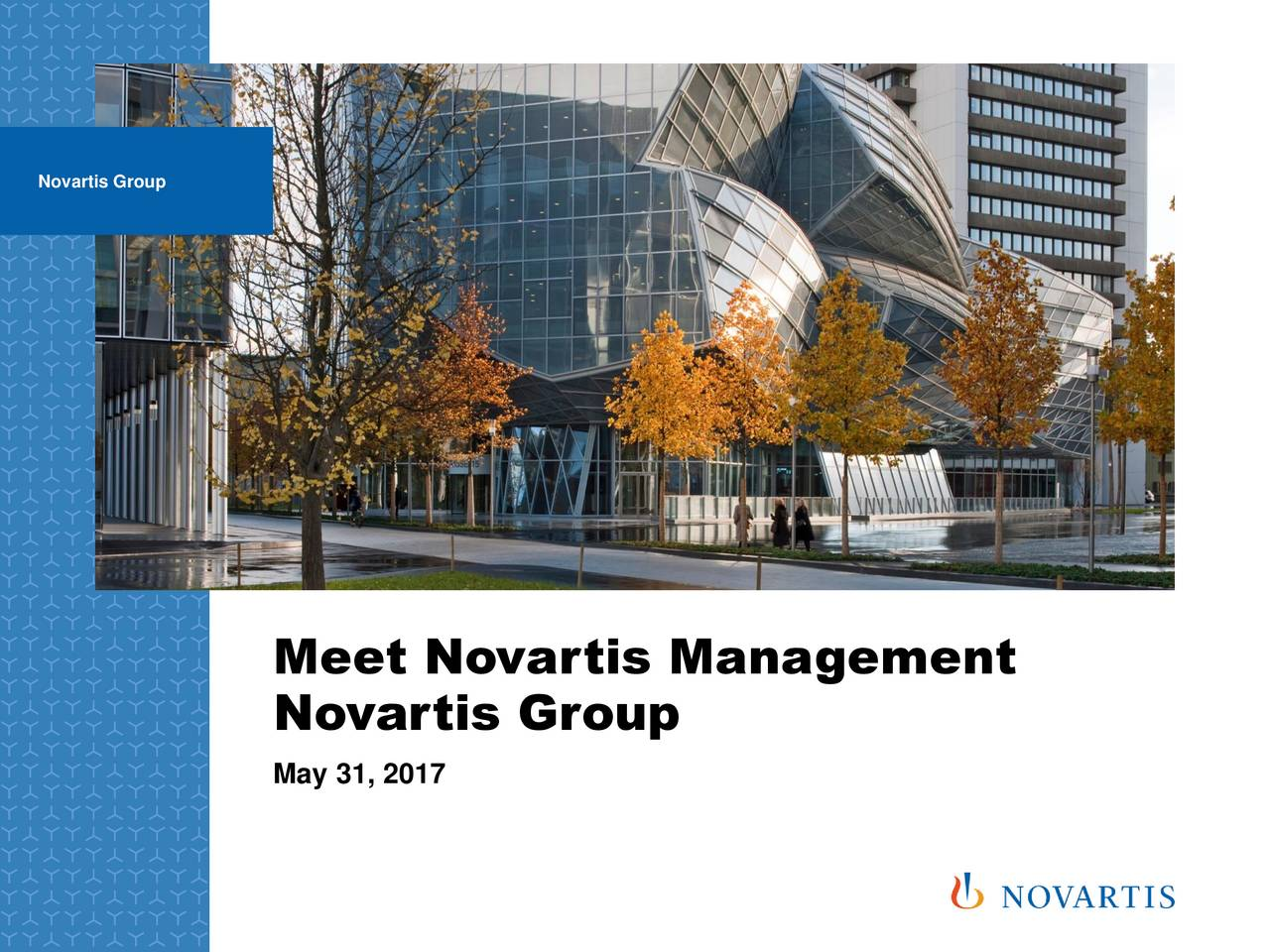 Meet Novartis Management Novartis Group May 31, 2017