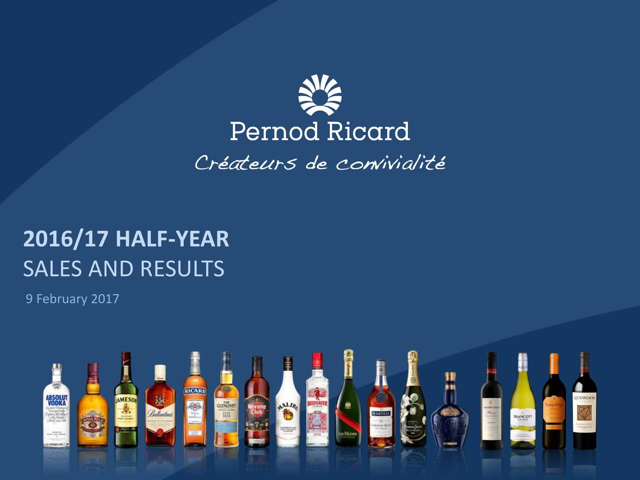 SALES AND RESULTS 9 February 2017