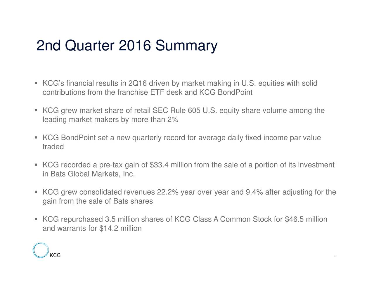 and 9.4% after adjusting for the ondPointty share volume among thearommon Stock for $46.5 million king in U.S. equities he sale of a portion of its investment KCcosfbCtiadifwsGldknnCiaarisrGGogbfpsanketg,Ian.s$3vse1mvelageonayes 2nd Quarte 2016 ummary