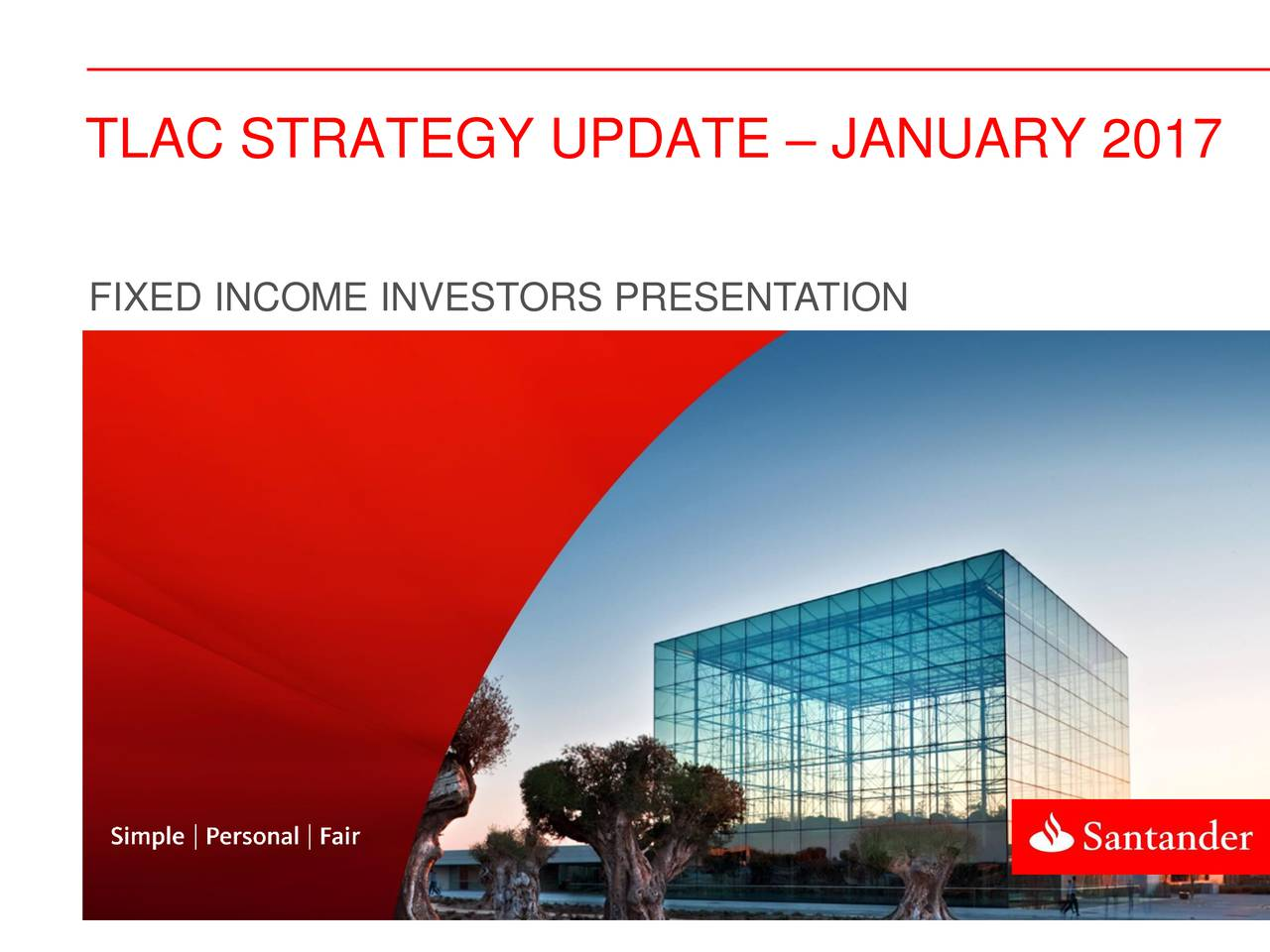 FIXED INCOME INVESTORS PRESENTATION