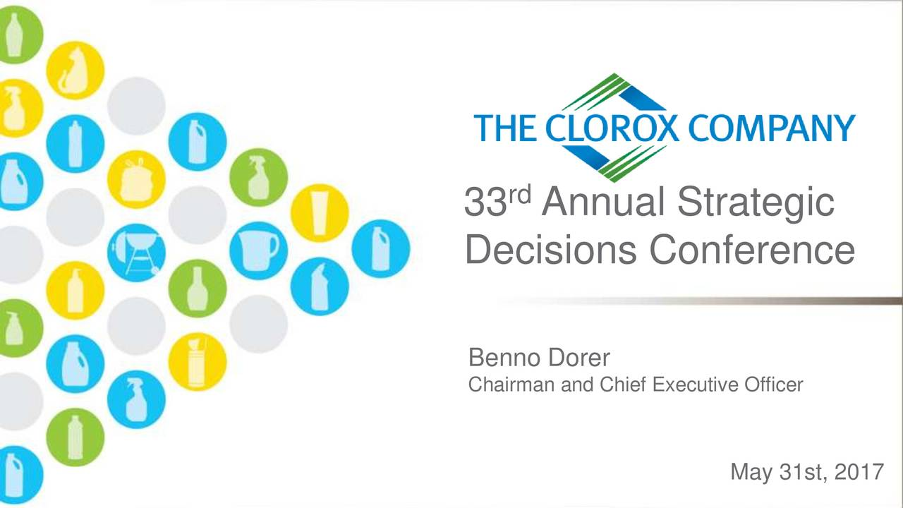 Decisions Conference Benno Dorer Chairman and Chief Executive Officer May 31st, 2017