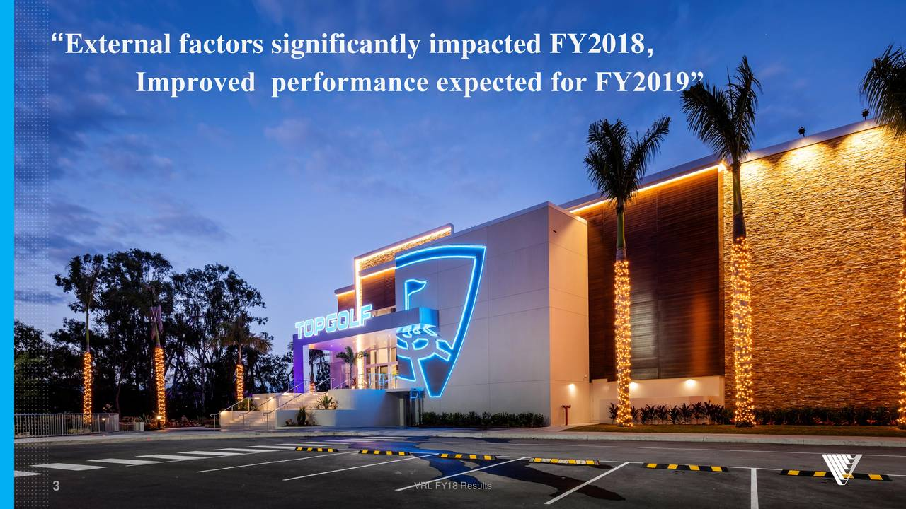 """Improved performance expected for FY2019"""" 3 VRL FY18 Results"""