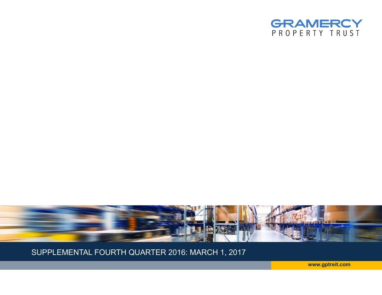 www.gptreit.com Gramercy Property Trust | REITWeek2016 | June 2016