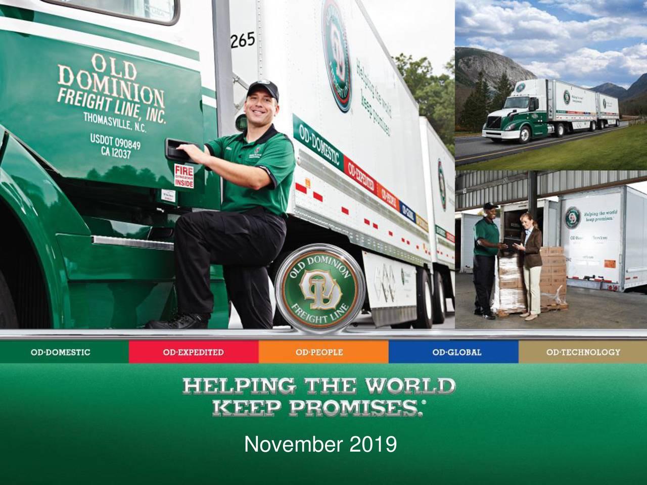 Old Dominion Freight Line, Inc. 2019 Q3 - Results - Earnings Call Presentation - Old Dominion Freight Line, Inc. (NASDAQ:ODFL) | Seeking Alpha