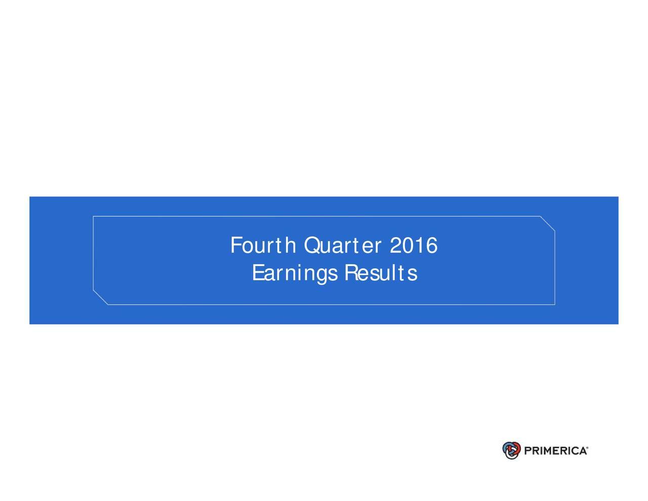 Fourth Quarter 2016