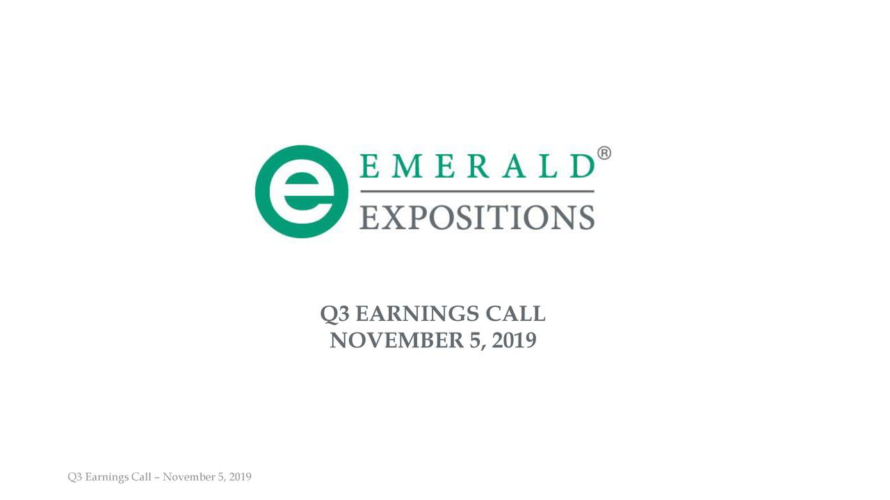 Q3 EARNINGS CALL
