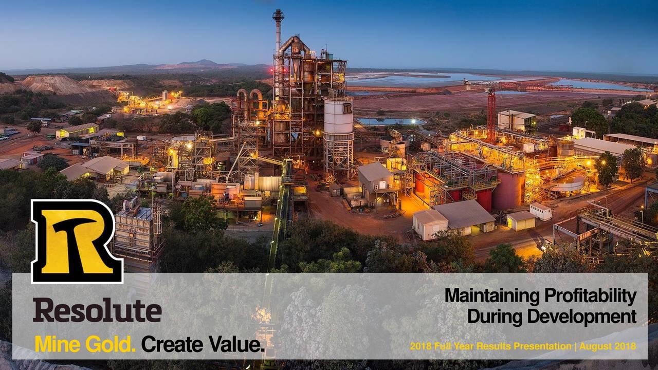 Resolute Mining Ltd  ADR 2018 Q4 - Results - Earnings Call