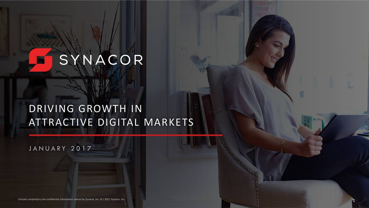 ATTRACTIVE DIGITAL MARKETS J A N U A RY 2 0 1 7 Contains proprietary and confidential information owned by Synacor, Inc.  / 2017 Synacor, Inc. 1