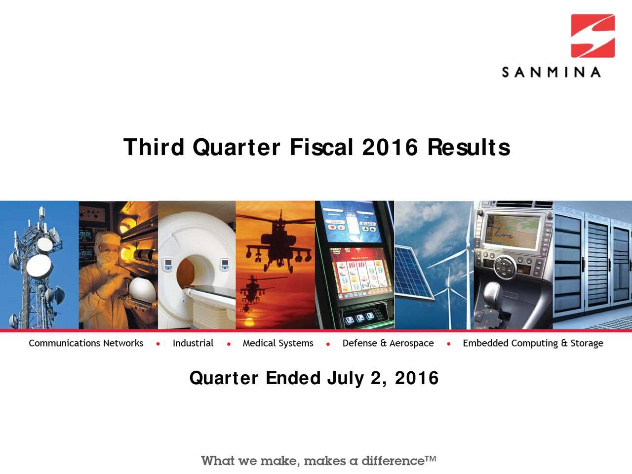 Quarter Ended July 2, 2016