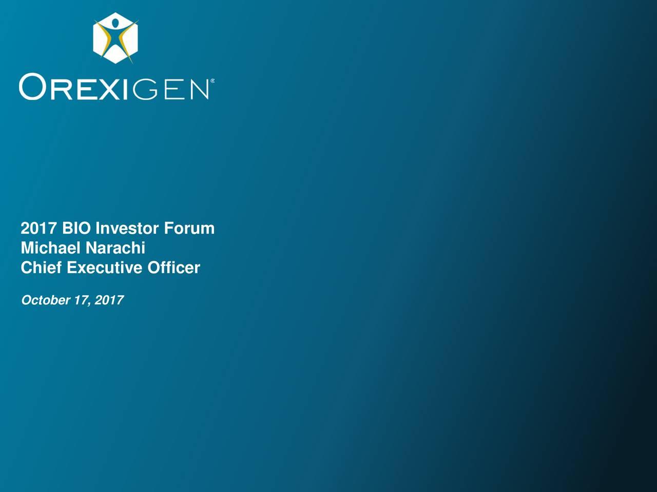 Orexigen Therapeutics (OREX) Presents At 2017 BIO Investor