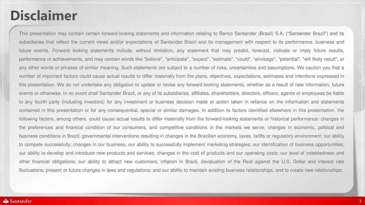 Banco Santander (Brasil) S.A. 2017 Q1 - Results - Earnings Call ...