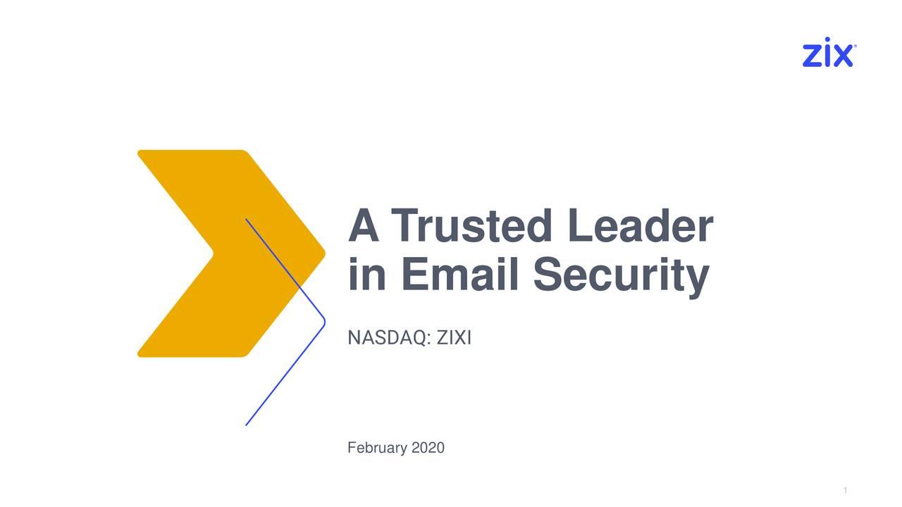 Zix Corporation 2019 Q4 - Results - Earnings Call Presentation - Zix Corporation (NASDAQ:ZIXI) | Seeking Alpha