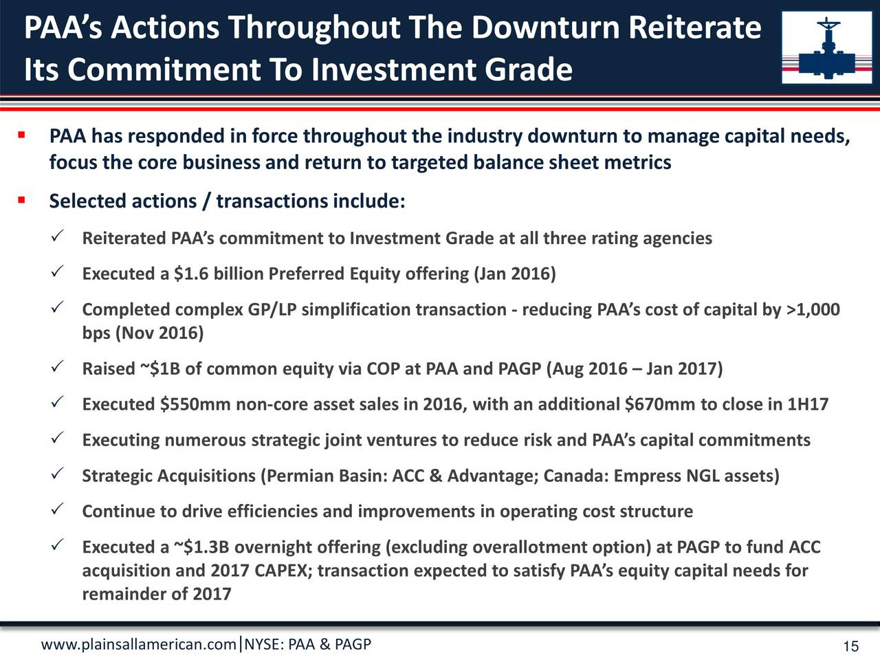 Plains Gp Holdings Lp Pagp Presents At Morgan Stanley