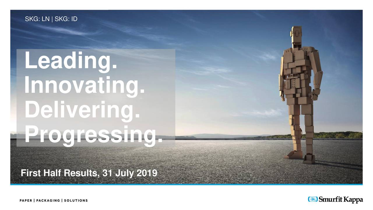 Smurfit Kappa Group plc 2019 Q2 - Results - Earnings Call Slides