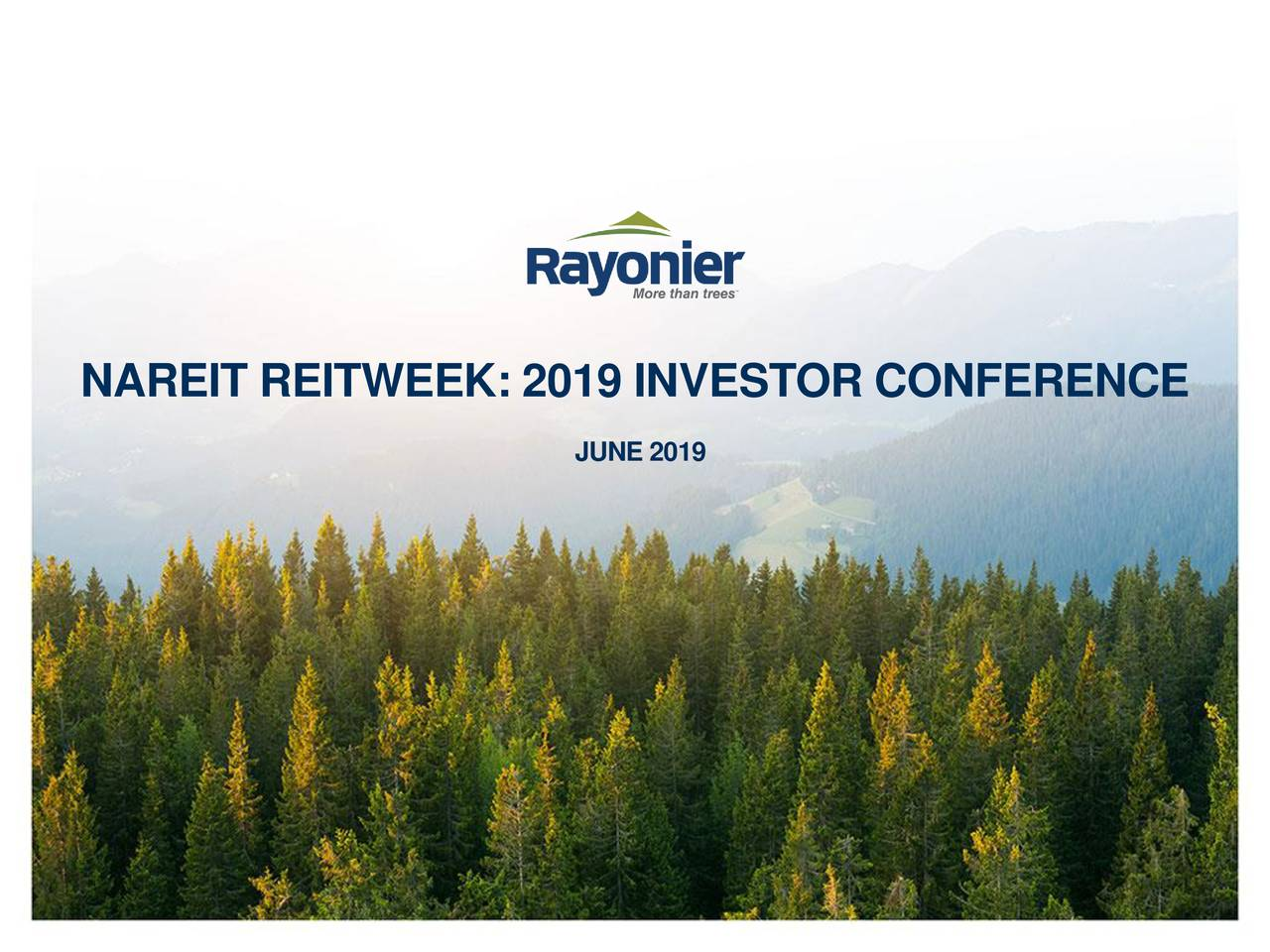 Rayonier (RYN) Presents At NAREIT 2019 Investor Conference - Slideshow