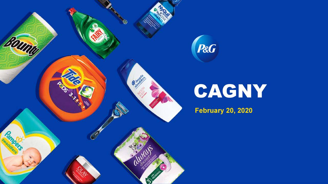 Procter & Gamble (PG) Presents At CAGNY Conference 2020 - Slideshow - The Procter & Gamble Company (NYSE:PG) | Seeking Alpha