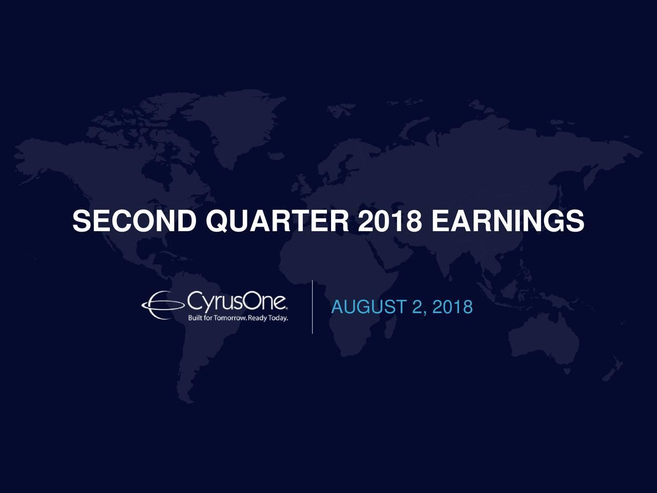 SECOND QUARTER 2018 EARNINGS