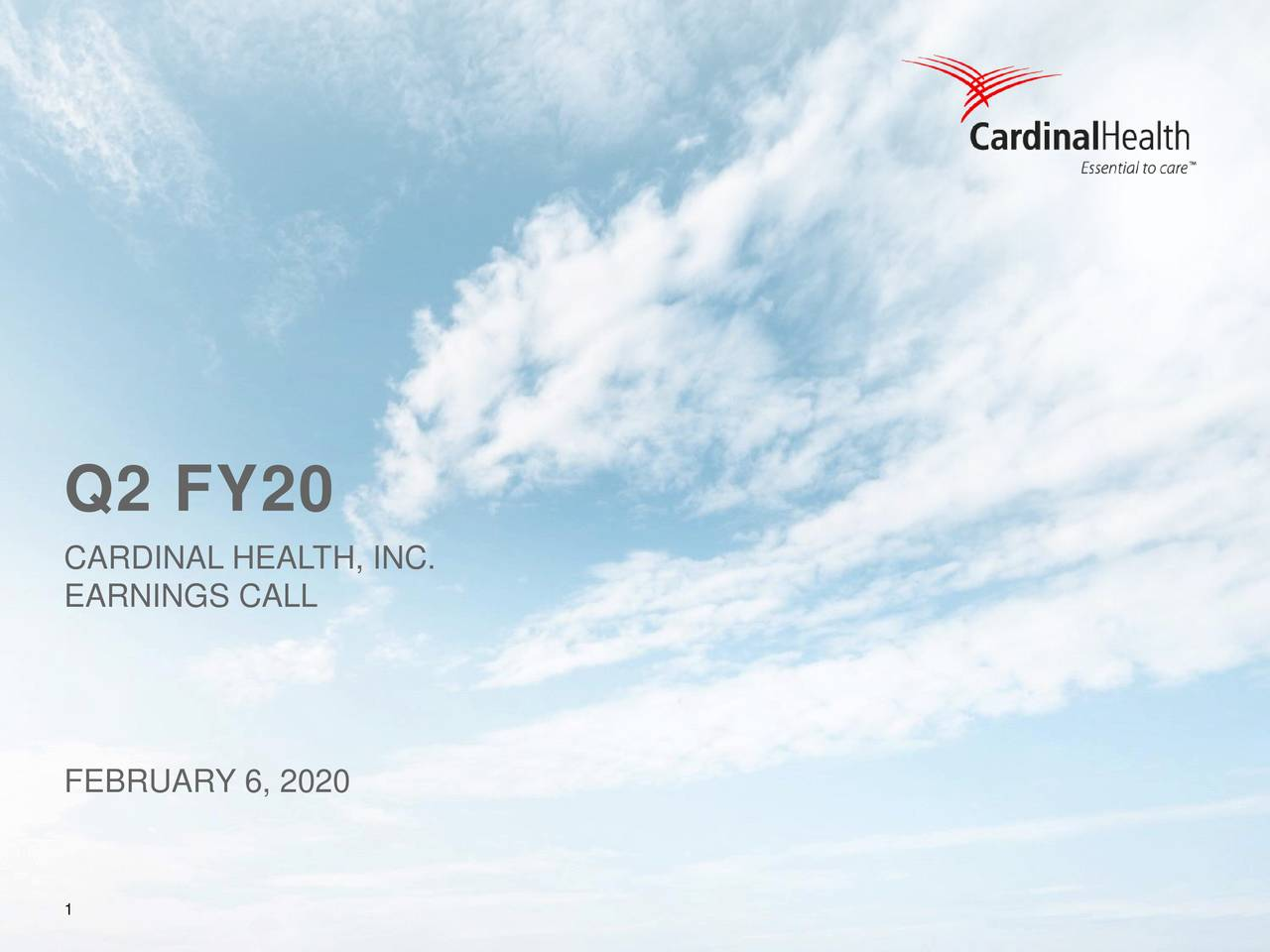 Cardinal Health, Inc. 2020 Q2 - Results - Earnings Call Presentation - Cardinal Health, Inc. (NYSE:CAH) | Seeking Alpha