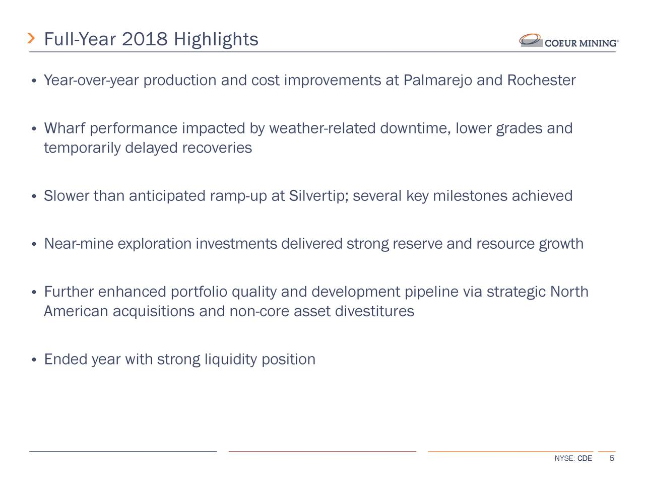 Coeur Mining, Inc  2018 Q4 - Results - Earnings Call Slides