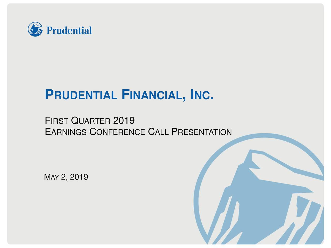 FIRSTQUARTER2019 EARNINGSCONFERENCECALLPRESENTATION MAY2, 2019