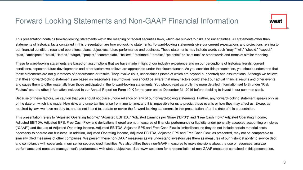 This presentation contains forward-looking statements within the meaning of federal securities laws, which are subject to risks and uncertainties. All statements other than statements of historical facts contained in this presentation are forward-looking statements. Forward-looking statements give our current expectations and projections relating to our financial condition, results of operations, plans, objectives, future performance and business. These statements may include words such may, will, should, expect, plan, anticipate, could, intend, target, project, contemplate, believe, estimate, predict, potential or continue or other words and terms of similar meaning. These forward-looking statements are based on assumptions that we have made in light of our industry experience and on our perceptions of historical trends, current conditions, expected future developments and other factors we believe are appropriate under the circumstances. As you consider this presentation, you should understand that these statements are not guarantees of performance or results. They involve risks, uncertainties (some of which are beyond our control) and assumptions. Although we believe that these forward-looking statements are based on reasonable assumptions, you should be aware that many factors could affect our actual financial results and other events and cause them to differ materially from those anticipated in the forward-looking statements. You should read carefully the more detailed information set forth under Risk Factors and the other information included in our Annual Report on Form 10-K for the year ended December 31, 2016 before deciding to invest in our common stock. Because of these factors, we caution that you should not place undue reliance on any of our forward-looking statements. Further, any forward-looking statement speaks only as of the date on which it is made. New risks and uncertainties arise from time to time, and it is impossible for us to predict those eve