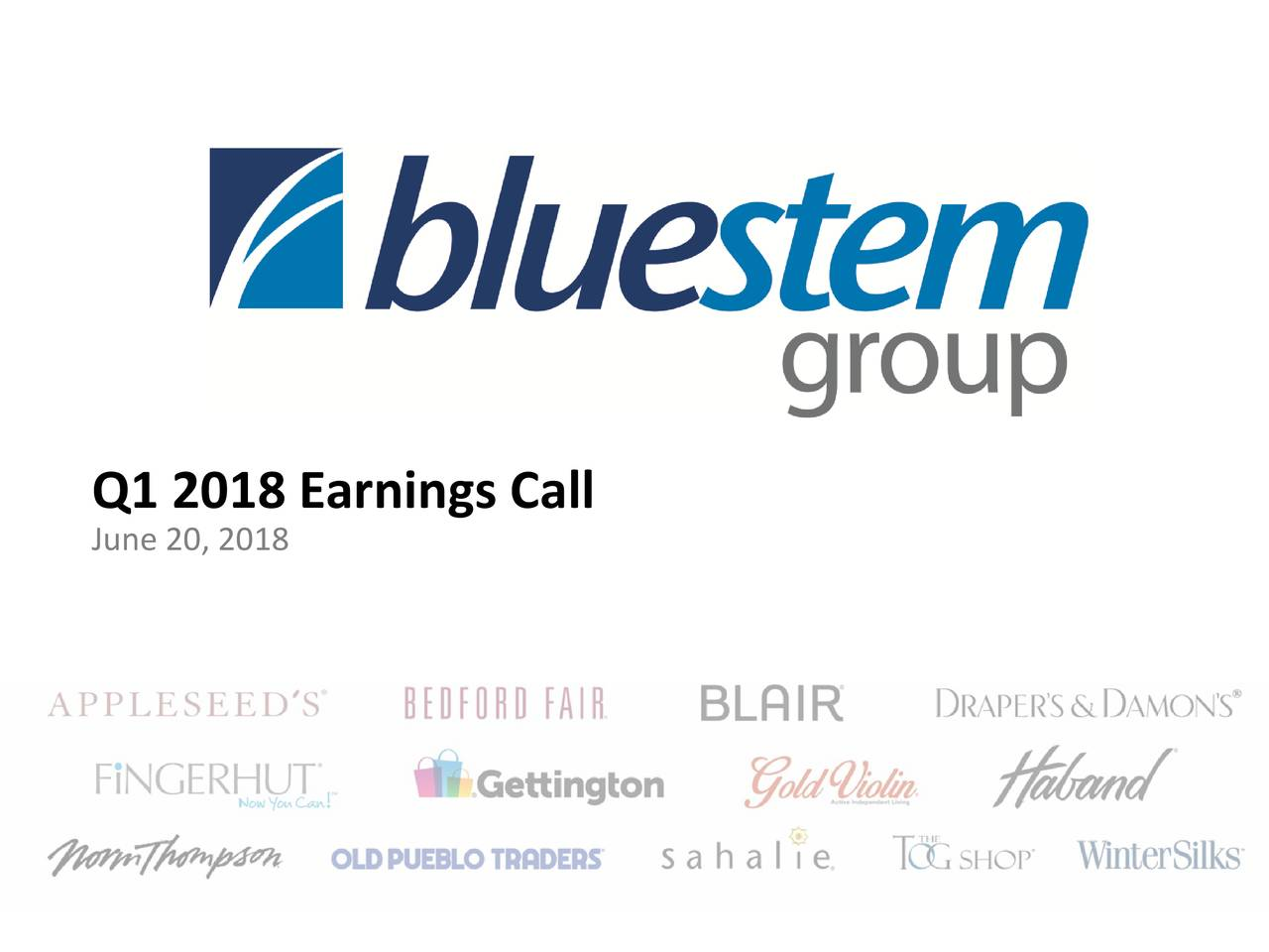 Bluestem Group Inc. 2018 Q1