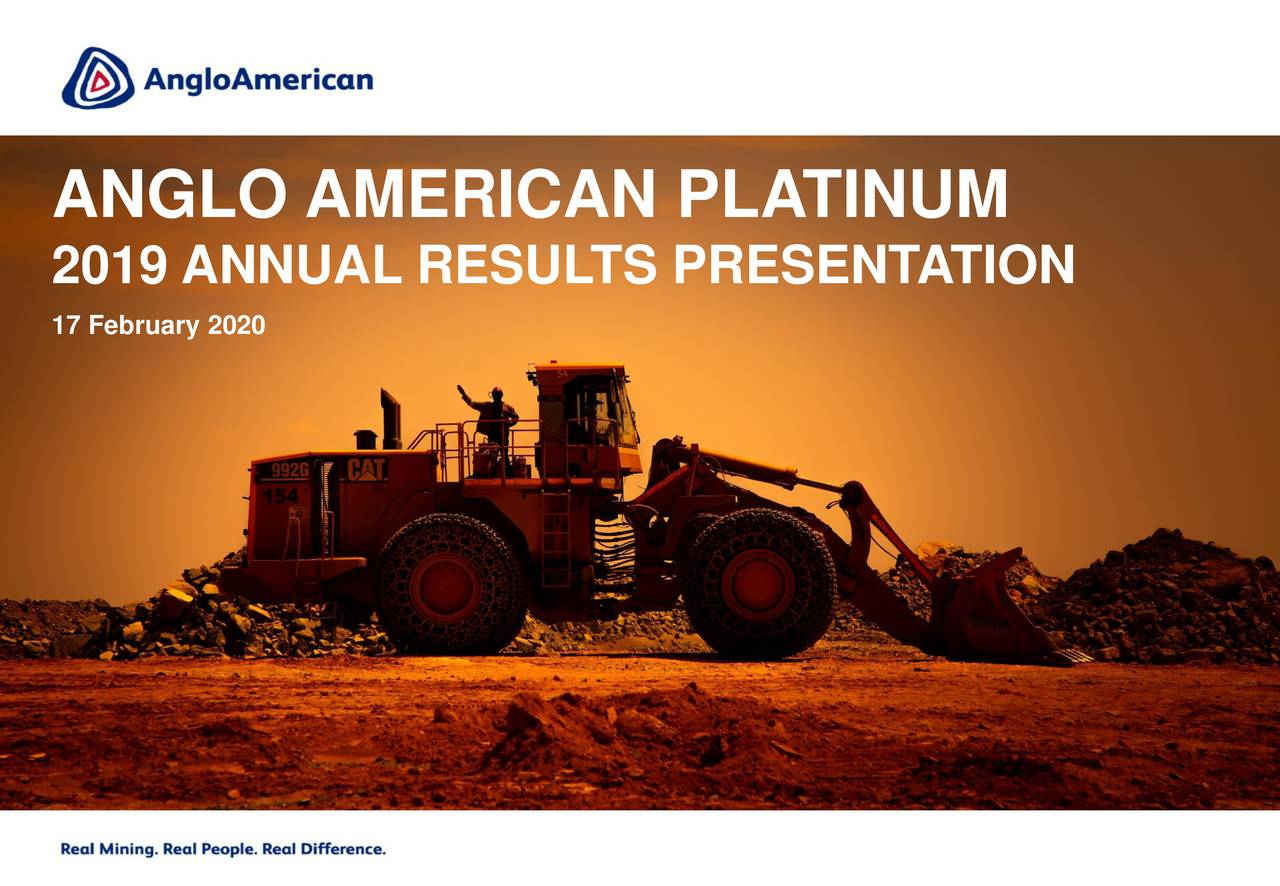 Anglo American Platinum Limited 2019 Q4 - Results - Earnings Call Presentation - Anglo American Platinum Limited (OTCMKTS:AGPPF) | Seeking Alpha