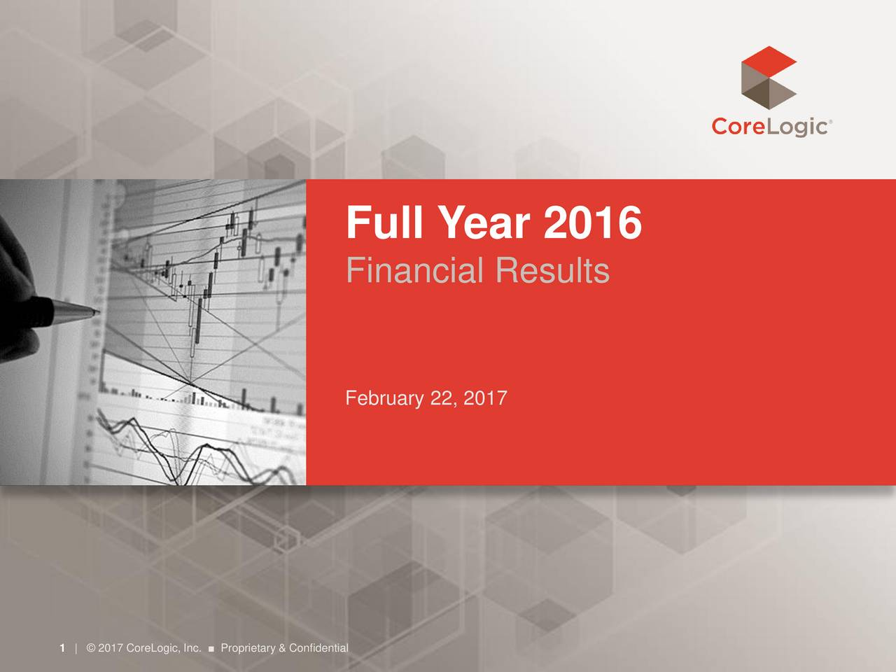 Financial Results February 22, 2017 1|  2017 CoreLogic, Inc.  Proprietary & Confidential