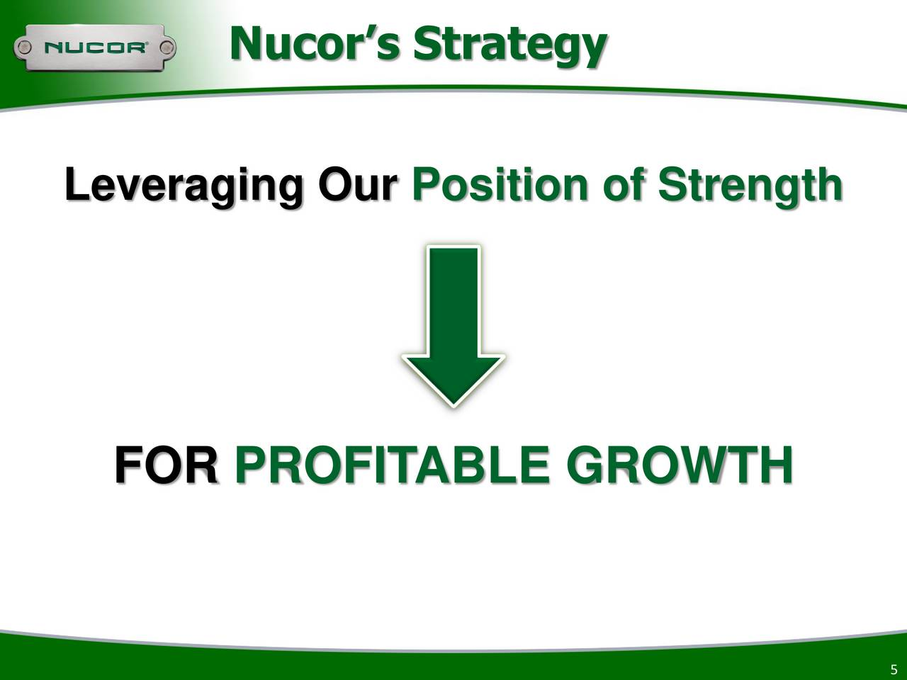 nucor strategic analysis For much of its century long history, nucor corporation and its predecessors displayed turbulent financial performance several attempts at a strategic.