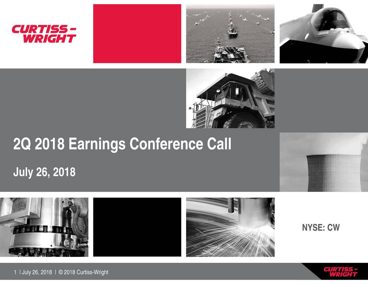 2Q 2 01l82,2018ings Conference Call2018 | © 2018 Curtiss-Wright