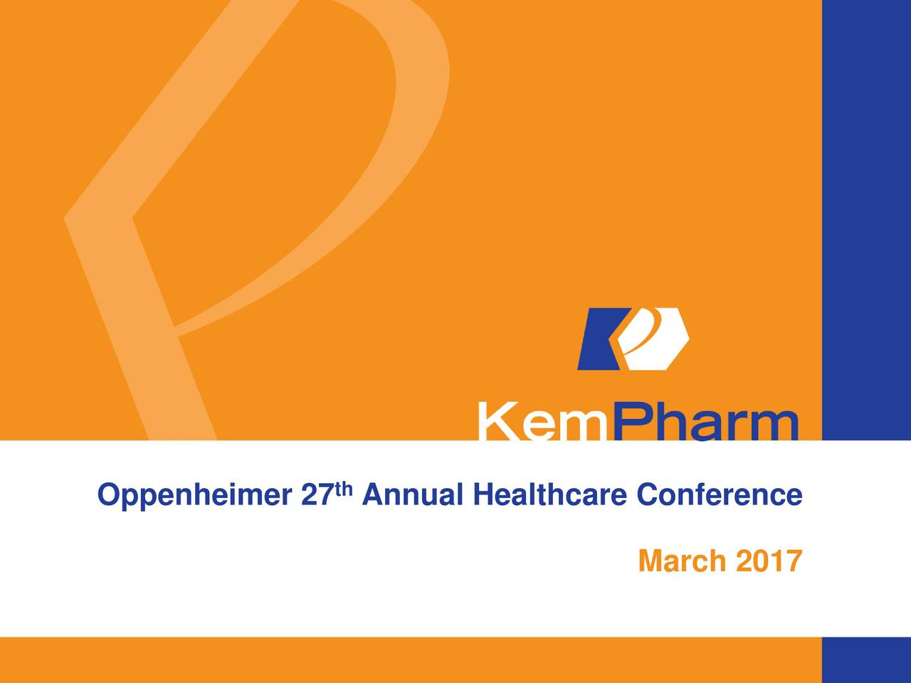 Oppenheimer 27 Annual Healthcare Conference March 2017 1