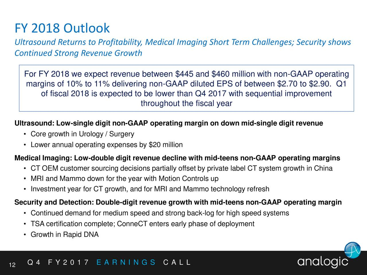 Analogic corporation 2017 q4 results earnings call slides analogic corporation 2017 q4 results earnings call slides analogic corporation nasdaqalog seeking alpha xflitez Images