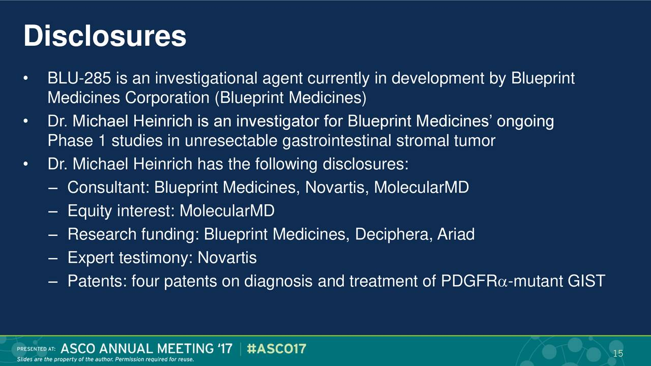 Blueprint medicines bpmc presents at asco 2017 advances in gist blueprint medicines bpmc presents at asco 2017 advances in gist slideshow blueprint medicines nasdaqbpmc seeking alpha malvernweather Choice Image