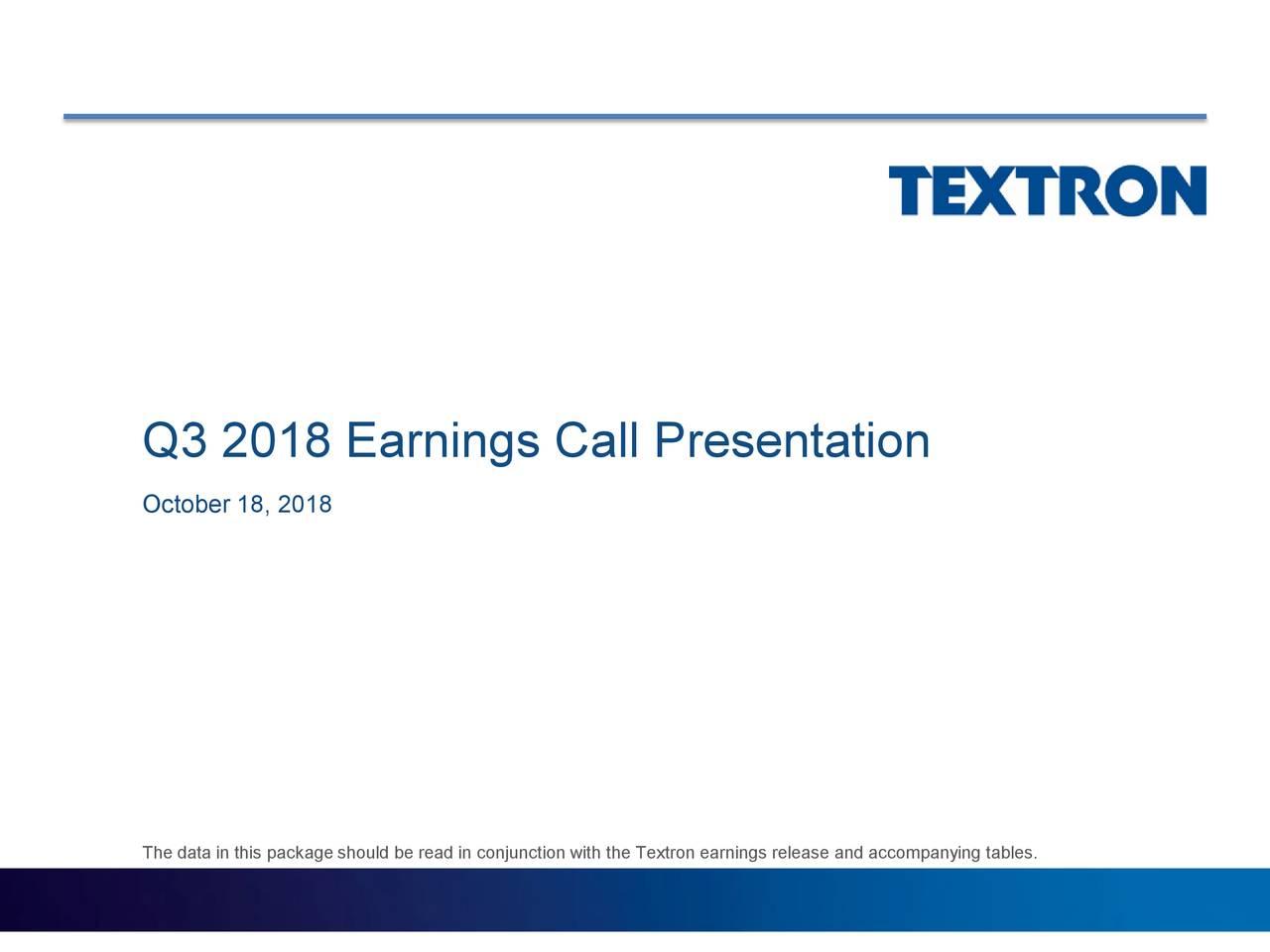 Q3 2018 Earnings Call Presentation