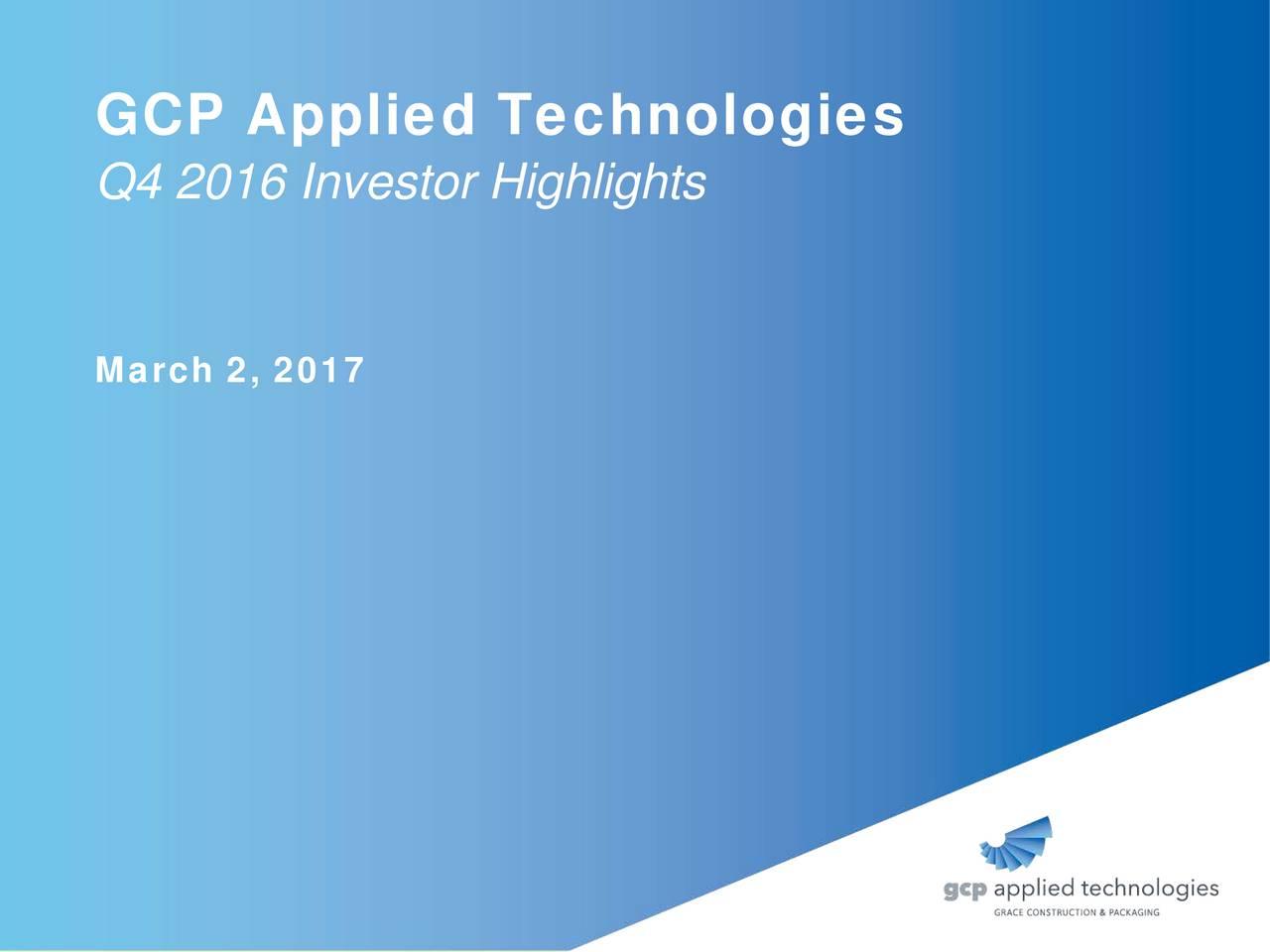 Q4 2016 Investor Highlights March 2, 2017