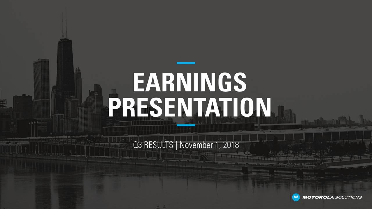 PRESENT ATION Q3 RESULTS | November 1, 2018
